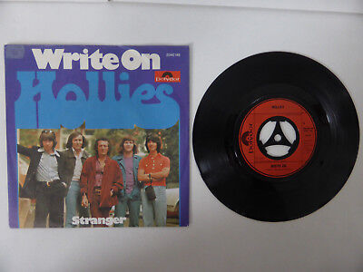 "The Hollies, Write On/ Stranger, 7"" Single, GER 1975"