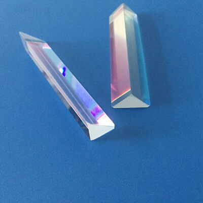 6cm Prism Physics Optical Glass Triple Triangular Teaching Light Spectrum