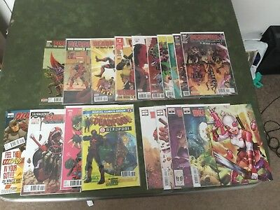 MARVEL COMICS   DEADPOOL 19 Comic Lot 2016 2018  Cable Spider-Man  X-men VF+