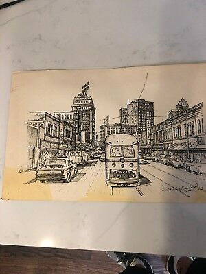 Lot Of Two El Paso Prints Antique Street Scenes
