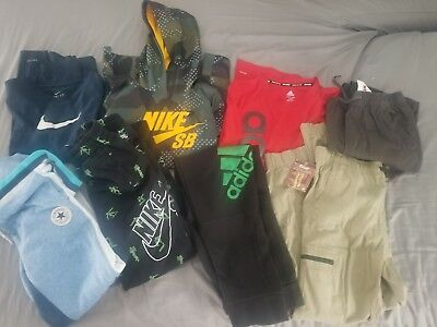 Lot Of 8 Boys Large Nike, Adidas, Converse, Plugg