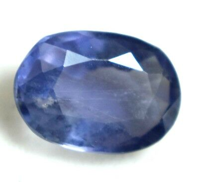 2.50Ct Natural Purple Yellow Tanzania Iolite Gem Stone AGSL Certified TopQuality