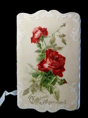 Victorian Folding Greeting Card Booklet - Leonard Spencer Verse Christmas