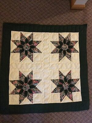 Traditional  WI AMISH Hand Made '80s VINTAGE QUILT Wall Hanging