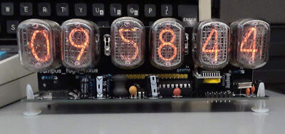 Nixie clock six digits with 12/24 hr disp. not a kit. Ready to display.