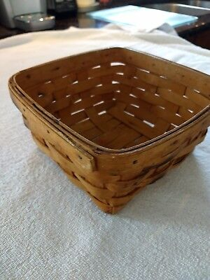 1997 Longaberger  handwoven Basket 7.5 x 7.5, signed CCC dated 1997