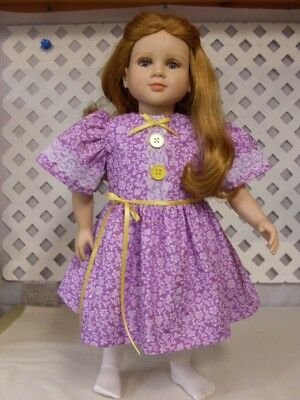 Doll Dress fits 23 inch My Twin  Handmade Lavender/ White Floral Print & Panties