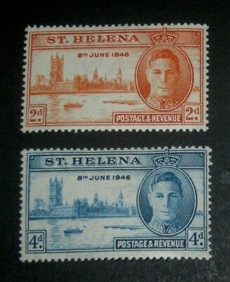 K.G.VI 1945-46 MINT SET OF 2 ST.HELENA VICTORY STAMPS,,,ONLY 49p.