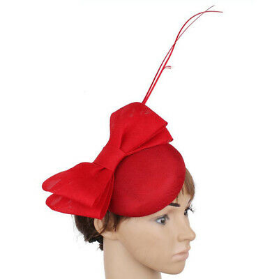 Vintage Fascinators Hat with Large Bowknot Wedding Party Derby Headpiece