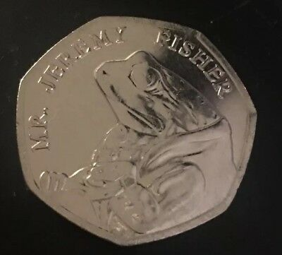 Mr JEREMY FISHER UNCIRCULATED 50P COIN 2017 X 1 FIFTY PENCE BEATRIX POTTER SET