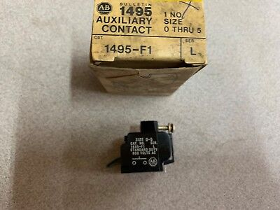 New In Box Allen Bradley Auxiliary Contact 1495-F1 Series L