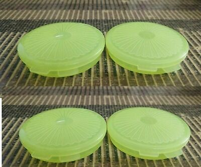 Tupperware Mini Round Flat Pill Box container Medicine Case - Buy -- SET  OF  4