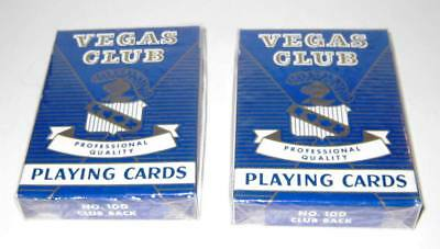 Lot of 2 VEGAS CLUB Professional Quality Playing Cards New/Sealed