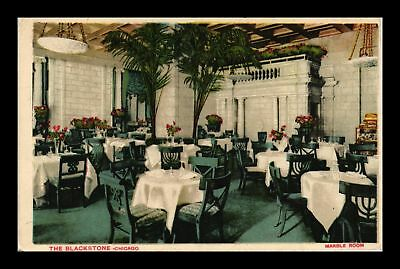 Dr Jim Stamps Us Marble Room The Blackstone Chicago Illinois View Postcard