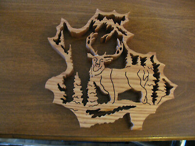 Deer Wooden cut Reindeer Open Range Hunting Outdoor/Indoor Cabin Country Decor