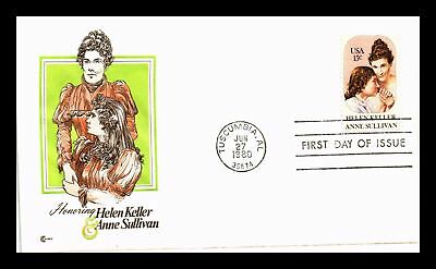 Dr Jim Stamps Us Helen Keller Anne Sullivan First Day Cover Craft Tuscumbia