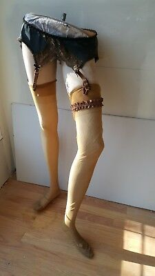 Antique female mannequin from waste down. Collectors item