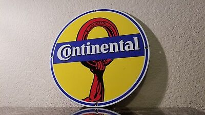 Vintage Continental Tire Germany Porcelain Enamel Single Sided Collectible Sign