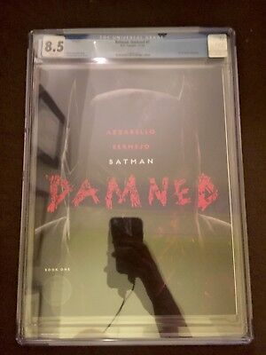 Batman Damned #1 8.5 CGC Graded DC Rare 2018 Black Label Comic Book Hero Comic