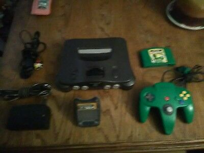 Nintendo 64 N64 Black Charcoal NUS-001(USA) Console System Bundle. Tested.