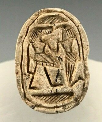 Ancient Egyptian Steatite Scarab Crocodile And Falcon Headed Figures! 1600 B.c.
