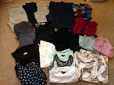 Large Cool/summer Maternity Clothes Bundle Size 8-10