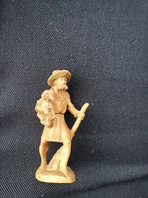 Anri Kuolt Shephard With Lamb Nativity Wood Hand Carved