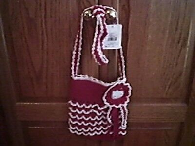 Hello Kitty Crocheted Red and White Purse NWT