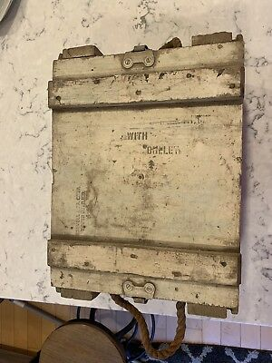 Vintage Wood Box with Rope Handles & Metal Latches