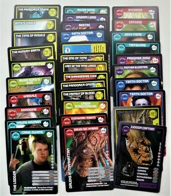 50+ Doctor Who Monster Invasion Trading Cards Includes Ultra Rare 100 Astronaut