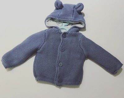 Mothercare Baby Boy Cardigan Up To 1 Month •Build A Bundle•