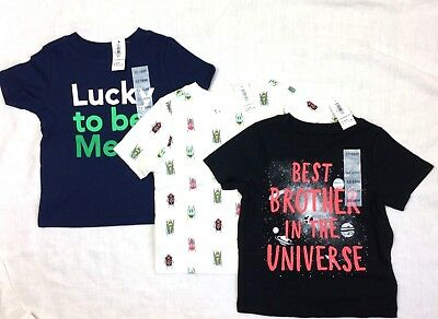 NWT LOT OF 3 Old Navy Toddler Boy Short Sleeve Tee Shirts Size 12-18M
