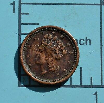 Civil War Token Union Forever Indian Head 12 Stars Shield 1864