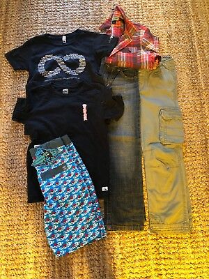 Boys size 7 & 8 bundle. Witchery, Munster , Quicksilver, Piping hot - 6 items
