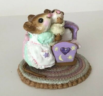 Wee Forest Folk Beddy - Bye Mousey (ONLY 24 MADE) FTF 2006 Moons RARE Special