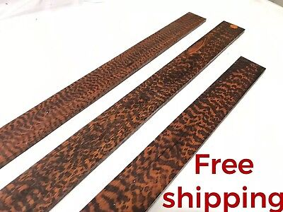 Snakewood Guitar Luthier Tonewood Exotic Lumber Wood Fret Finger board AE538