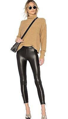 75ddfff20a97e NWT $155 DAVID LERNER Faux Leather Detail The Heistier Flared ...