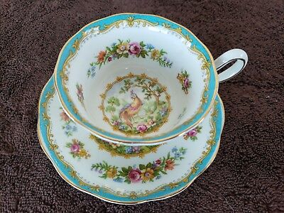 Royal Albert Tea Cup and Saucer Bone China Chelsea Bird with Gold Trim