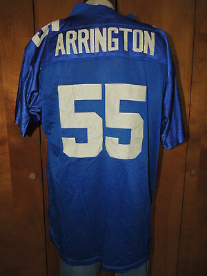 Vtg SEWN NEW YORK GIANTS Size 50 Lavar Arrington  55 Reebok FOOTBALL JERSEY  NFL b4af8011e