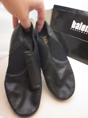 5daebafe95ea NEW JAZZ SHOES Slip on Black or Tan Child to Adult Sizes Leather ...
