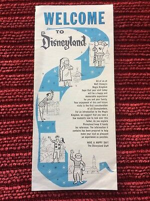1961 Disneyland Brochure with a Map of the Magic Kingdom