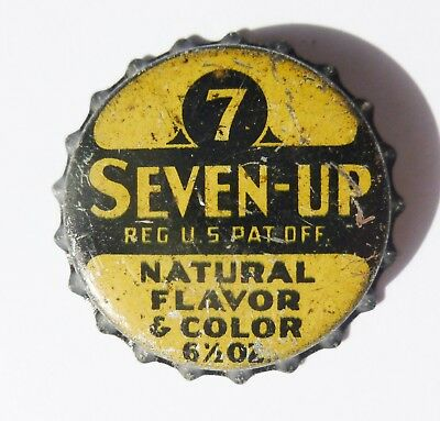 Unused Seven-Up Cork Bottle Cap  First One!  Extremely Rare!