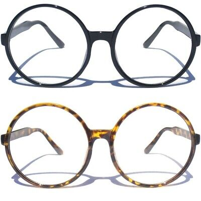 8c9585d97267 OVERSIZE ROUND CLEAR LENS GLASSES Retro Big Style Hipster Smart Nerd Fashion  Big