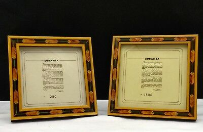 Pair of Vintage Genuine Euramex French Marquetry Picture Frames