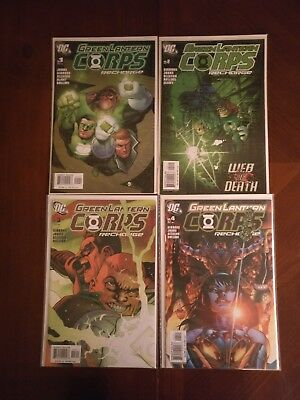 DC Comics Green Lantern Corps Recharge #1-4 Comic Book Lot
