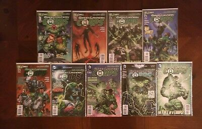 DC Comics Green Lantern Corps New 52 #1-4 6 7 9 11 12 Comic Book Lot
