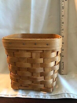LONGABERGER NIB TaLL Tissue Basket Warm Brown Brand New 2006 BASKET ONLY!
