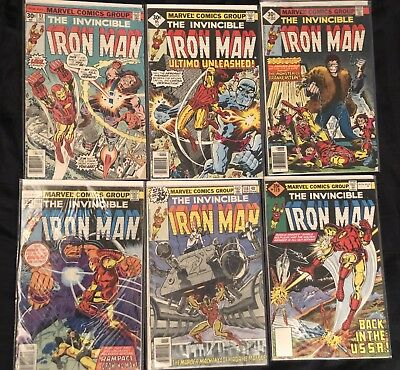 The Invincible Iron Man Comic Lot #93, 95, 101, 108, 116, And 119!