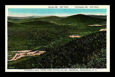 Dr Jim Stamps Us Catskill Mountains View From Fire Tower New York Postcard