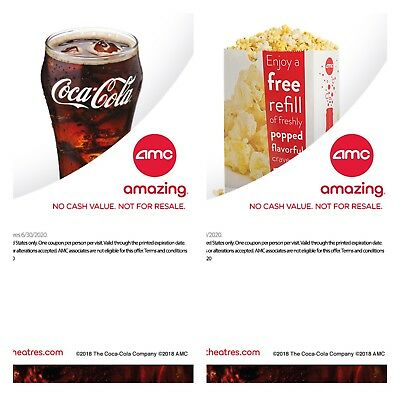AMC Theaters - 1 Large Popcorn + 1 Large Drink - *FAST Email DELIVERY*